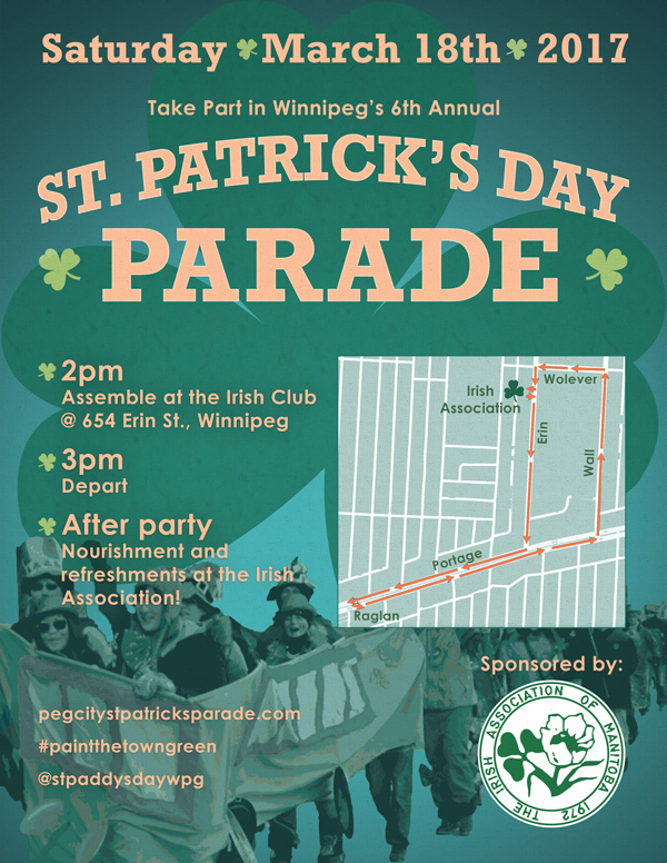 2017 St. Patrick's Parade poster